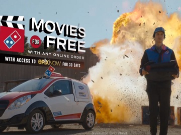 Domino's Pizza & Movie EPIX NOW Commercial - Movies For Free