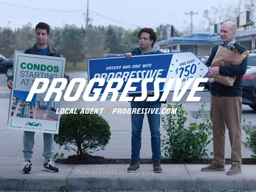 Progressive Sign Spinner's Dad & The Big E Commercial