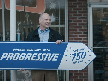 Progressive Sign Spinner Dad Commercial