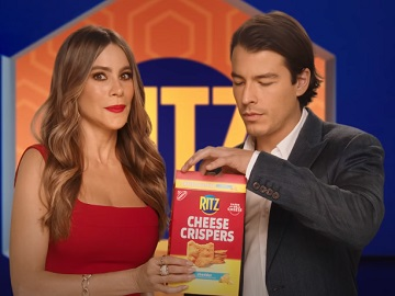 RITZ Cheese Crispers Sofia Vergara & Son Manolo Commercial