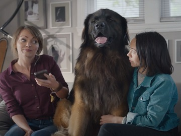 Rocket Mortgage Commercial - Girls with Big Dog