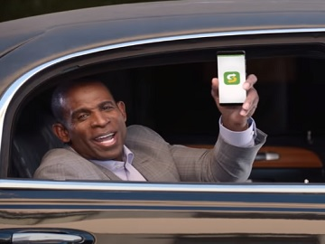 Subway Deion Sanders in Limo Commercial