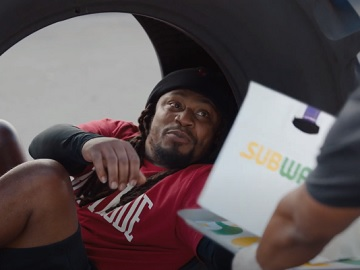 Subway Marshawn Lynch in Tire Commercial