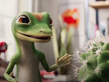 GEICO Gecko Cactus Commercial - Porcupine in a Balloon Factory