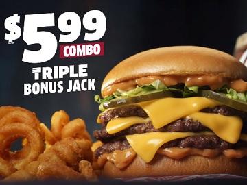 Jack in the Box $5.99 Triple Bonus Jack Combo Commercial