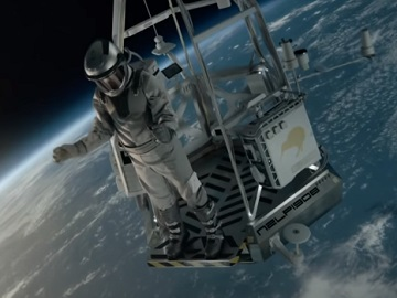 L&P Space Manu Commercial - Astronaut Jumping into a Pool