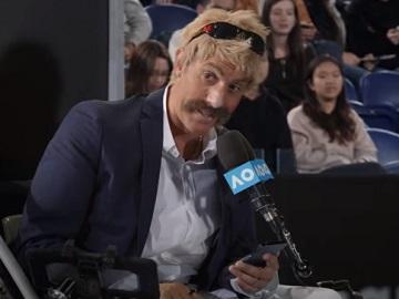 Uber Eats Australian Open Borat Sacha Baron Cohen Commercial