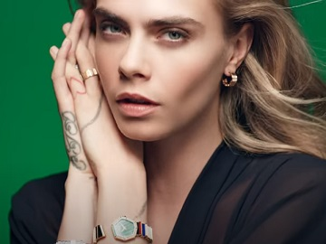 Gem Dior Collection Cara Delevingne Claspless Watch Commercial