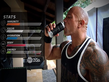 Energy Drink ZOA x Xbox Dwayne Johnson Commercial