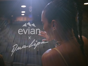 Evian Dua Lipa Commercial
