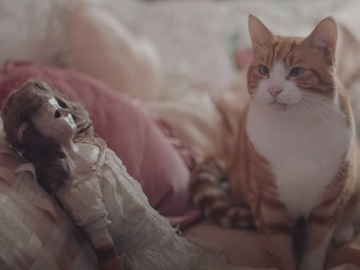 Premier Inn Rest Easy From Booking to Bed Advert - Doll and Cat
