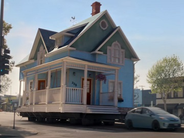 Allstate Woman Taking House for a Ride Commercial