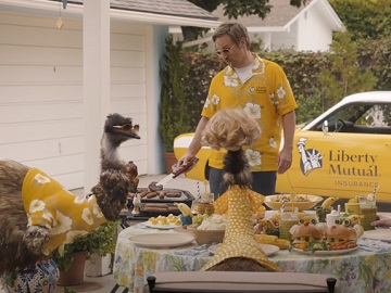 Liberty Mutual LiMu Emu, Doug and Their Wives Commercial