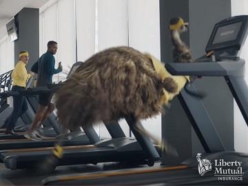 Liberty Mutual LiMu Emu & Doug at the Gym Treadmill Commercial