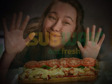 Subway Australia Commercial - Woman Pressed Up Against the Glass