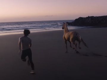 Burberry Hero Fragrance Man & Horse Commercial Song - Adam Driver Turning into Centaur