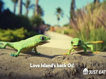 Just Eat x Love Island Geckos Advert
