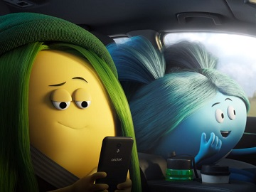 Cricket Wireless 5G Girl Mascots with Blue Hair and Green Hair Commercial