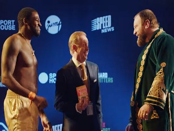 Haribo Tangfastics Boxers at Weigh In Advert - Oxley vs. Gorchov