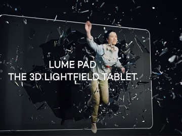 Leia Lume Pad Girl Breaking Through Glass Commercial