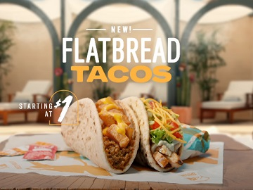 Taco Bell Flatbread Tacos Commercial