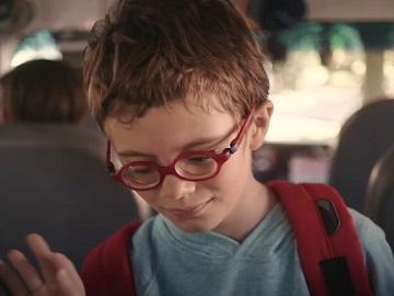 Colgate Boy on School Bus Smile Commercial
