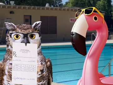 America's Best Contacts & Eyeglasses Owl and Flamingo-Shaped Floaty Commercial