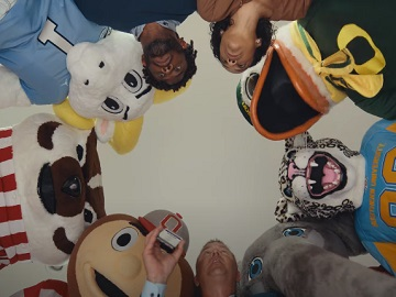 Rocket Mortgage Kirk Herbstreit Calling Football Mascots into a Huddle Commercial