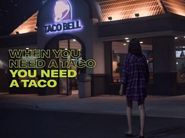 Taco Bell Cantina Crispy Melt Taco Commercial Girl