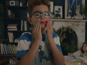 John Lewis Home Insurance Boy in his Mom's Clothes Advert