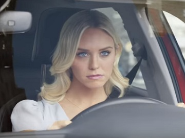Girl Driving Car In Infiniti Commercial