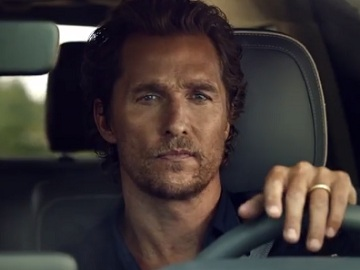 lincoln navigator matthew mcconaughey pounding   steering wheel commercial